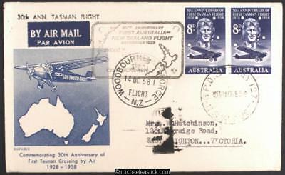 11 Sep 1958, TEAL 30th Anniv of Kingsford Smith's trans Tasman flight