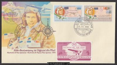25 July 1984, 50th Anniv. of first Australia, Papua and New Guinea flight
