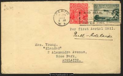 4 Jun 1929 Perth to Adelaide Flight Cover