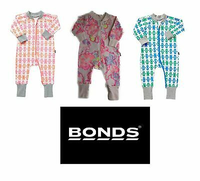 BONDS BABY GIRL ROOMY WONDERSUIT Zippy Bodysuit Terry Pink Floral Jumpsuit SALE!