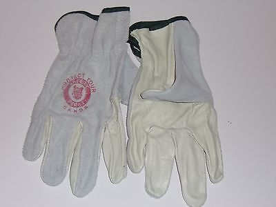 Union Pacific Leather Gloves Medium Size