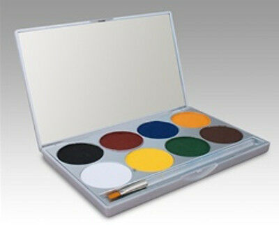 Basic Mehron Paradise Makeup Palette Cake Water Activated Face Body Paint