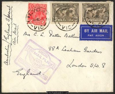19 Nov 1931, First All Australian Air Mail to England