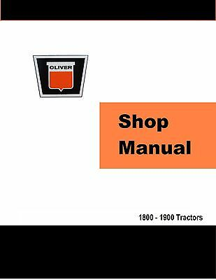 Oliver 1800 & 1900 Factory Shop Service Manual Reproduction