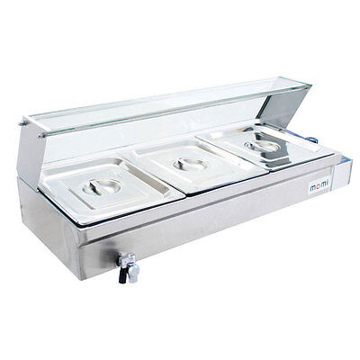 Bain Marie 3 PAN Food Warmer TEN AMP PLUG