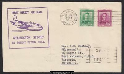 3 October 1950, TEAL Wellington-Sydney service with flying boat