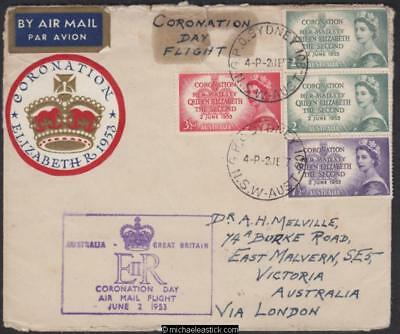 2 Jun 1953, Qantas special Coronation Day flight Sydney-London & return