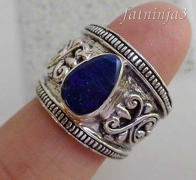 Size 5.5 (US) Opal Solid Silver, 925 Bali Handcrafted Ring 32227