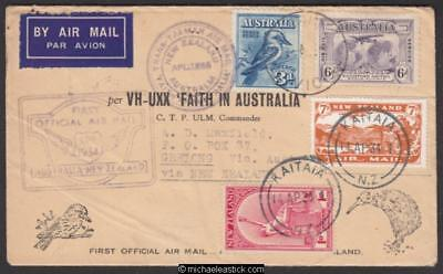 10 April 1934, 'Faith in Australia' flight Australia-New Zealand-Australia