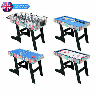 4ft Folding Multi Game Table 4 in 1 Pool Table/Football/Hockey/Table Tennis Kids