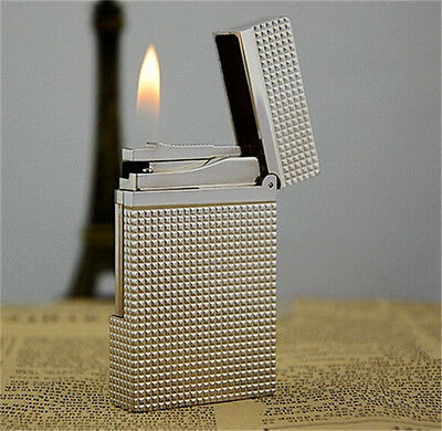 Silver Bright Sound S.T Dupunt Memorial Lighter France Collectible