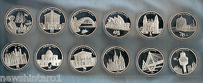 Twelve Modern 225 Years Of Sydney  Collection Silver Finished Medals