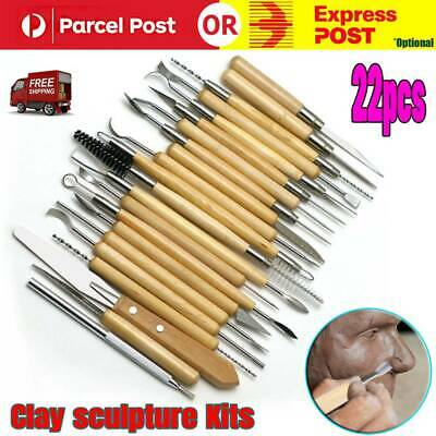 22pcs Clay Sculpting Pottery Carving Tool Set Shaper Modelling Sculpture Knife