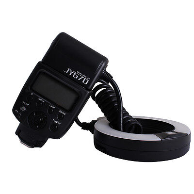 Professional Macro Ring Flash Light Lite Viltrox JY-670 for Canon Nikon Sony