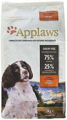 Applaws Dry Dog Food Adult Chicken Small & Medium Breed, 2kg