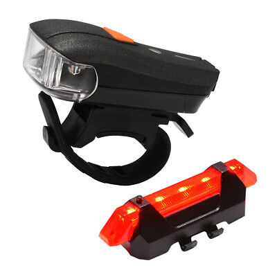 Super Bright USB Rechargeable LED Bike Front and Rear Back Tail Light Set CS502