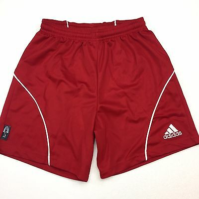 Adidas Kids Youth Small Shorts Red White Athletic Clima 365 Drawstring Sports