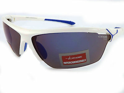 Cebe CINETIK 6 Lens Sunglasses White / Grey Blue Flash Mirror + Yellow + Clear
