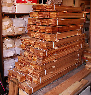 Clear beveled cedar boards