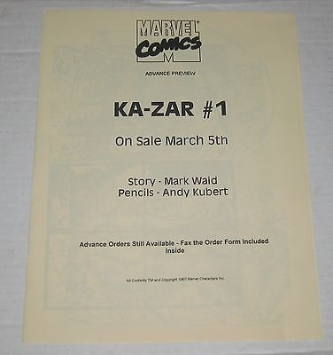 KA-ZAR Retailer Advanced Preview Copy (1997)  #1 Marvel  VF/NM