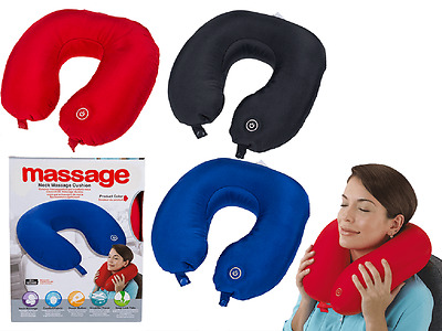 Automatic Polyester Soft Neck Massager Pillow 31x30CM Battery Powered Assorted