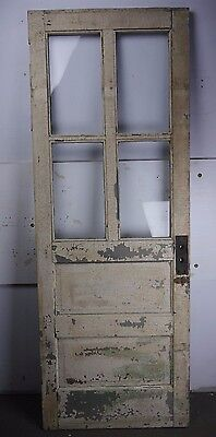"Antique Vintage Door w/Glass 27-7/8"" X 76-1/8"" (DG) Local Pickup"