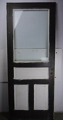 "Antique Vintage Door w/Glass 32"" X 79-5/8"" X 1-1/8' Thick (FG) Local Pickup"