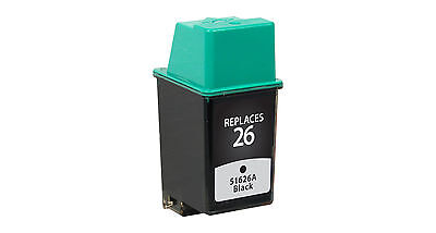 Remanufactured Hewlett Packard Black Ink cartridge 51626A (HP 26)