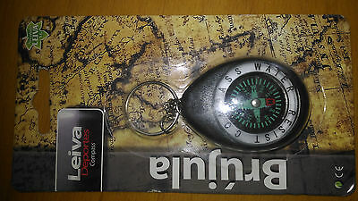 Compass keychain water resistant air free aventura y camp black