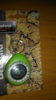Compass keychain water resistant air free aventura y camp green
