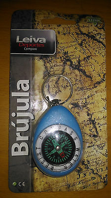 Compass keychain water resistant air free aventura y camp blue