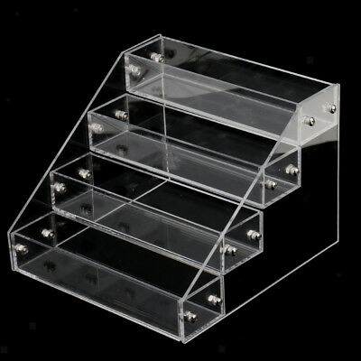 4 Tiers Acrylic Makeup Nail Polish Display Stand Organizer Clear Holder Rack