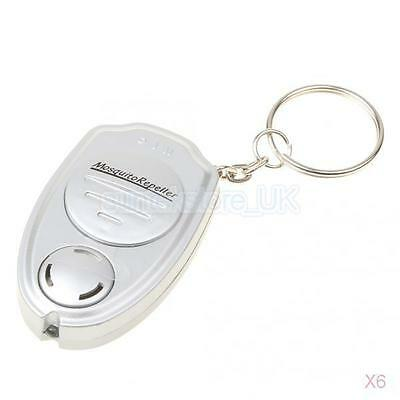 6x Ultrasonic Mosquito Repeller Anti Pest Insect Control Repellent Keychain
