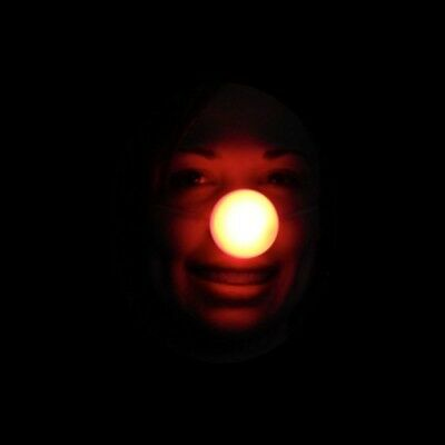 Light Up Rudolph Nose Led Flashing Red Blinking Clown Reindeer Costume Accessory