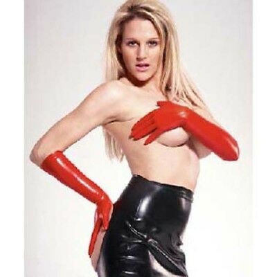 Unisex Latex Elbow Gloves  - Rubber Fetish Shiny Clothing Gear Kinky Fetishwear