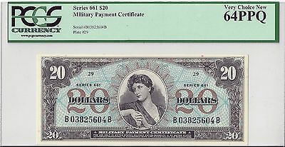 Series 661 $20 Military Payment Certificate MPC - PCGS64 PPQ