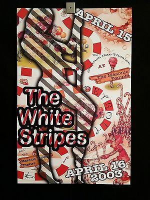 The White Stripes Detroit 2003 April 15-16 Concert Poster Signed #'d By Artist