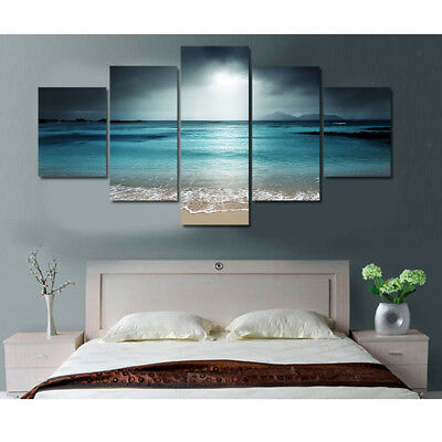 5-Panel Modern Art Canvas Wall Decorative Painting Set Sunset Print Pictures