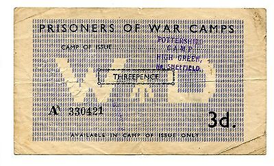 WWII POW Camp Great Britain WD Three Pence Pottershill Camp High Green Sheffield
