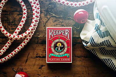 Keeper Red Marked Deck Of Playing Cards Adam Wilber & Ellusionist Magic Tricks