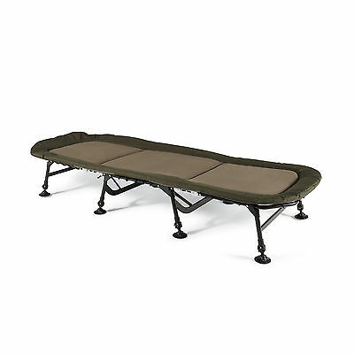 Cyprinus Mega Light 8 Leg Flat Carp Fishing Bed Bedchair & Memory Foam Pillow