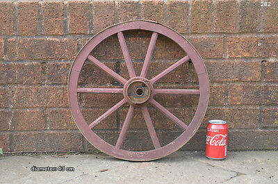 Vintage old wooden cart wagon wheel  / 43 cm - FREE DELIVERY