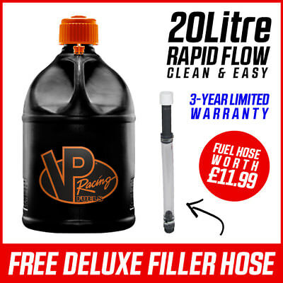 VP Racing V-Twin Motorsport Container 20 Litre Round Black/Orange