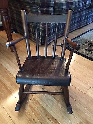 Vintage Wood Child or Doll Rocking Chair