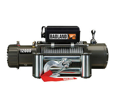 12000 lb Off-Road Vehicle Electric Winch with Automatic Load-Holding Brake 6 Ton