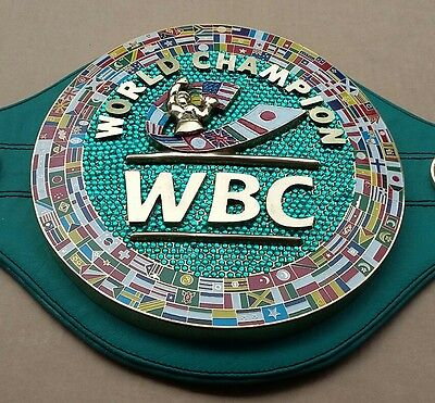WBC EMERALD Championship Boxing Belt Synthetic Leather 3D Replica Adult