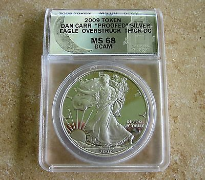 2009 THICK *DC* Proof Silver Eagle Overstrike (1 of only 368 Proofed) VERY  RARE