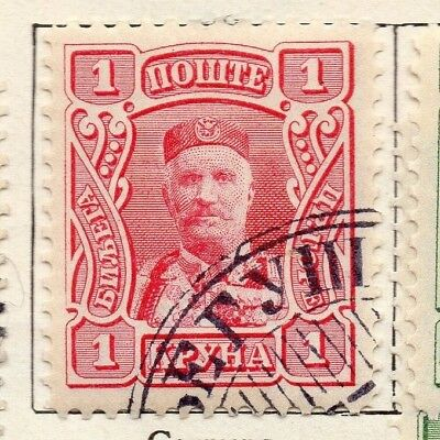 Montenegro 1905 Early Issue Fine Used 1kr. 147321