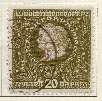 Montenegro 1910 Early Issue Fine Used 20pa. 147330