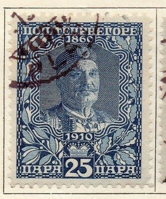 Montenegro 1910 Early Issue Fine Used 25pa. 147331